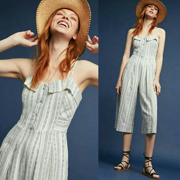 Anthropologie Pants - Anthropologie Mayden Cropped Jumpsuit by Greylin